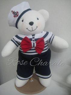 Ursos marinheiros de 48 cm | Rose Charale Bonecas de Pano | Elo7