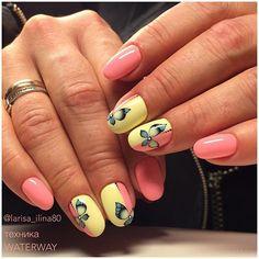 Дизайн ногтей гель-лаками Nanlac в технике WATERWAY. #обучениедизайнуногтей…