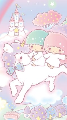 Sanrio Little Twin Stars ❤ Wallpaper Mais Sanrio Wallpaper, My Melody Wallpaper, Star Wallpaper, Hello Kitty Wallpaper, Kawaii Wallpaper, Kawaii Shop, Kawaii Art, Little Twin Stars, Sanrio Characters