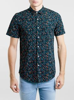 buy online 028d4 3537d BLACK BLOTCH CAMO SHORT SLEEVE SHIRT