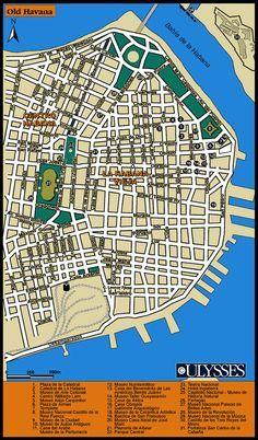 Havana, Cuba Tourist Map