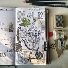 Woche 52 in meinem Storage.it Planer. Wie schön draußen die Sonne scheint! #travelersnotebooks #travelnotes #week52 #artjournaling #artjournal #kunsttagebuch #plannercommunity #filofaxing #sonnenschein #clearstamps #stempel #washitape #washis #steampunk #blackandwhite #filofaxing #filofax #plannernerd