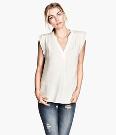 H&M V-Neck Blouse....put with a cute cardigan and some jeans!
