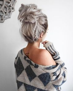 This bun is cute, but I'm not very good at making messy buns.
