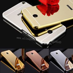 For MEIZU M3 NOTE Case NEW Luxury Gold Silver Plating Aluminum Frame + Mirror Acrylic Back Cover for Meizu M3 NOTE Phone Cases