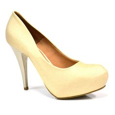 sapato feminino scarpin dourado meia pata vizzano - Pesquisa Google