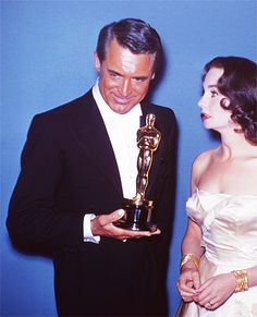 Cary Grant and Jean Simmons at the 30th Annual Academy Awards, 1958