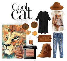 """""""Cool Cat"""" by cherea ❤ liked on Polyvore featuring Charlotte Russe, Burberry, Emilio Pucci, Bobbi Brown Cosmetics, The Row, Essie and Recover"""