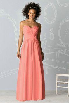 Stunning Coral Bridesmaid Dresses : Coral Chiffon Bridesmaid ...