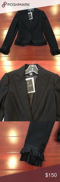 """💋new listed 💋Rugby Ralph Lauren  Blazers NWT. 100% wool. Beautiful and high quality. Ruffles in cuffs and hem area. Measurement shoulder 16. Bust: 17. Waist:14"""". Fall 22"""" from shoulder. Ralph Lauren Jackets & Coats Blazers"""