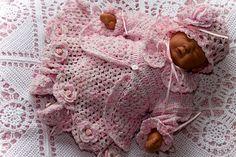 Cheryls Crochet CC81-Dainty Baby Set 10 thread by cherylscrochet (Craft Supplies & Tools, Patterns & Tutorials, baby, bonnet, leggings, hat, panties, dress, matinee, jacket, love knot, pdf)