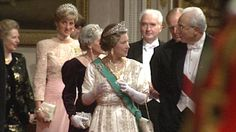 Princess Diana wears her Garrard tiara at a reception in October 1990 for the Italian president.