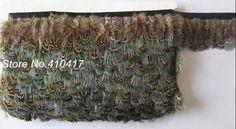 1 jarda naturel Ringneck Pheasant Plumes garniture Fringe Plumes ruban pour bricolage artisanat(China (Mainland))