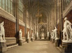 Inside Houses of Parliament London England - Guided tours take visitors into both the Commons and Lords chambers and Westminster Hall, as well as up the Clock Tower.