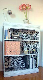 Modern Vintage Soul Refinishing Old Bookcases Wallpaper Bookshelf Furniture Diy Home Decor