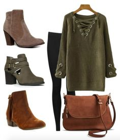 Booties and Tunic Sweaters! How to wear your favorite pair of booties and Tunic Sweaters for Fall and Winter!