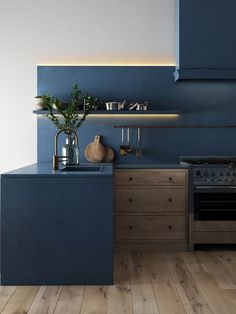 Kitchen Interior Kitchen paint color - Great ideas for using colorful decorating ideas and paint in your kitchen. with oak cabinets dark wood, white cabinets black wall popular, modern small kitchen spaces - Spoiler: your kitchen doesn't have to be white. Paint For Kitchen Walls, Dark Kitchen Cabinets, Kitchen Paint Colors, Painting Kitchen Cabinets, Oak Cabinets, White Cabinets, Paint Colours, Paint Walls, Wood Walls