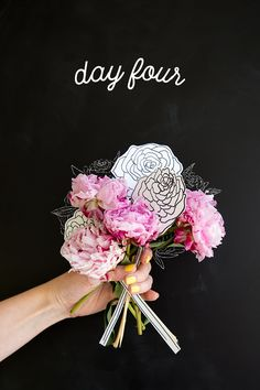 We love a DIY, especially if it involves drawing peonies.