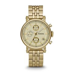 Dress Chronograph Stainless Steel Watch - Gold-Tone -- $125