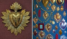 The history of ex voto jewellery and paintings in Italy heart