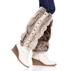Leg Warmers, Cowboy Boots, Faux Fur, Flip Flops, Slippers, Jewels, Legs, Sneakers, Shoes