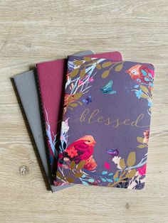 Jot down thoughts, prayers, and more with this charming trio of paper notebooks. Keep one for yourself and gift the others as a splendid present for any woman in your life that needs a reminder to wait upon the Lord with a trusting heart.   #catholiccompany #becausefaithmatters #prayerjournaling #journal #prayers #journaling #catholic #pray #notebooks #gift Wait Upon The Lord, Catholic Company, Blessed Is She, Catholic Prayers, Gods Promises, Colorful Birds, Faith In God, Are You The One, Notebooks