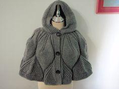 Medium Grey Hood poncho.