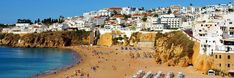 Albufeira has two main beaches, Praia dos Pescadores, or the Fishermen's beach, and Praia do Túnel, or the tunnel beach to the West, which is accessed through a tunnel through the cliffs.