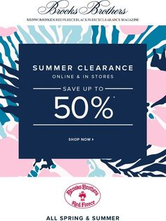 Summer savings. Up to 50% off clearance. - Brooks Brothers