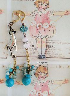 bead cluster earrings by vintagesue on etsy https://www.etsy.com/shop/Arey
