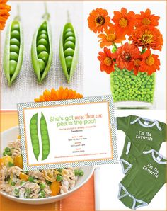 Baby Shower Theme: Sweet Peas....This was my theme with Jackson. At the time they had almost nothing sweet pea and I had to search the dark corners of the internet to find anything!