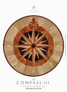 Best Floormedallion Compassrose Floorinlay Rosefarminlays 400 x 300