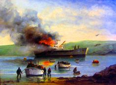 The Bombing of the Sir Galahad, Falklands War- by Michael J Whitehand
