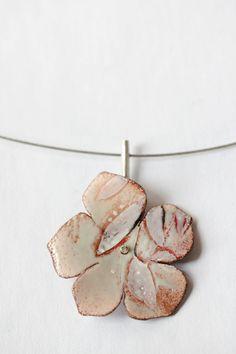 Spring Flower Enamel Pendant by CynthiaDelGiudice