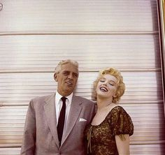 Marilyn with producer Buddy Adler on the set of Bus Stop, 1956. Photo by Milton Greene.