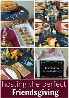 Host the perfect Friendsgiving with the help of these tips and party supplies! | theblueeyeddove.com