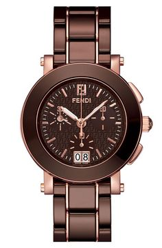 Fendi Large Ceramic Chronograph Watch | Nordstrom