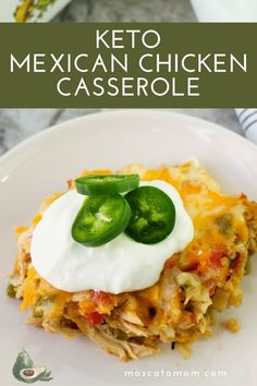 Ketogenic Recipes, Low Carb Recipes, Diet Recipes, Cooking Recipes, Healthy Recipes, Healthy Foods, Easy Recipes, Recipies, Mexican Chicken Casserole