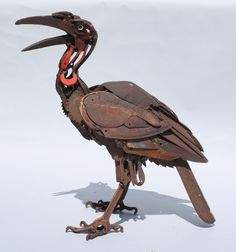 Southern Ground Hornbill‐Found Object Sculpture‐Harriet Mead