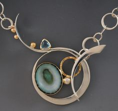 Wow! Gorgeous necklace pendant! links and toggles collection - barbara umbel jewelry design