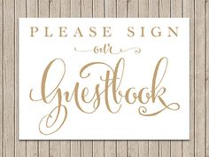 Please Sign our Guestbook Sign  5x7 sign  by CharmingEndeavours
