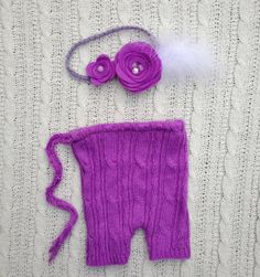 Lilac purple newborn girl upcycle cable knit by thefarmchick, $26.50