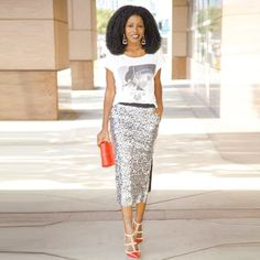 Compare Prices on Silver Pencil Skirt- Online Shopping/Buy Low ...