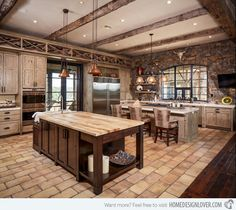 The color of this rustic kitchen is fascinating and really lovely. The thought of having reclaimed packing crates for the flooring is beyond words.