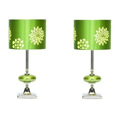 EC World Imports Casa Cortes Costa Verde Table Lamp with Drum Shade (Set of Green Glass Table Lamp, Beautiful Table Lamp, Table, Shades Of Green, Shades, Table Lamp Sets, Purple Nursery, Table Lamp, Drum Shade