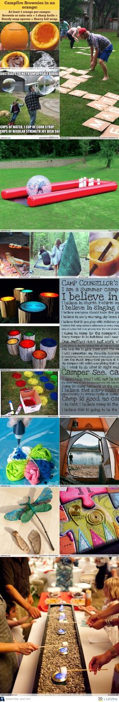 Great Summer Camp Ideas ...adapting to therapy...hmmm