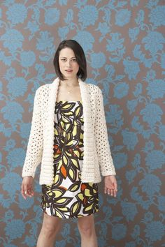 Whiter Shade Of Pale Car Coat: FREE crochet sweater pattern