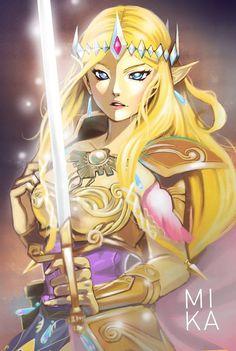 Beautiful Hyrule Warriors fanart - Zelda