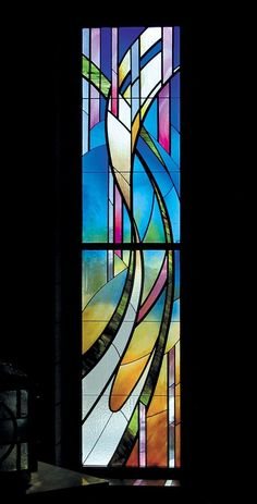 Stained glass in the Blessed Sacrament Chapel