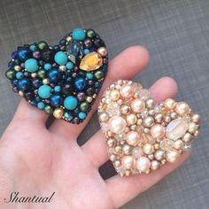 мои любимые сердечки брошечки Были выполнены на заказ! Повтор возможен! 4.500 руб любая #hand_made_gold1